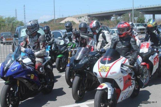 טבלת אליפות ישראל למרוצי אופנועי כביש, אחרי מירוץ אם המושבות פתח תקווה 2013, GP1, GP2